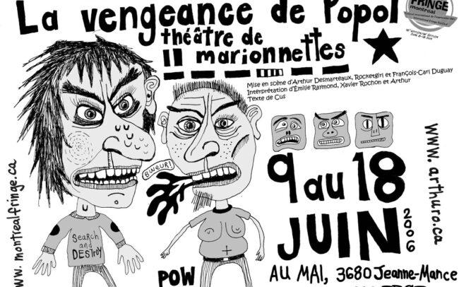 Tract pour la pièce La Vengeance de Popol