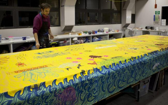 Vue de l'atelier Megalo Print Studio, Australie (2011)
