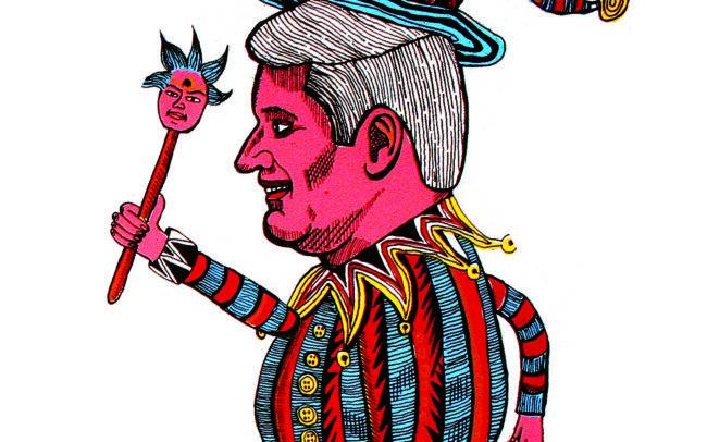 Le bouffon (marionnette en carton)