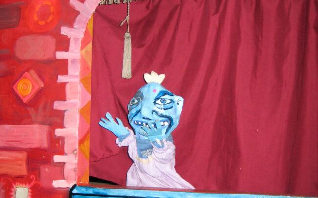 Décor la pièce de théâtre de marionnettes