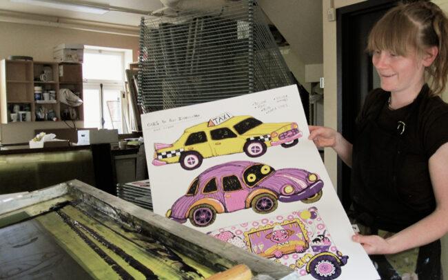 Allison Moore imprimant à Engramme à Québec