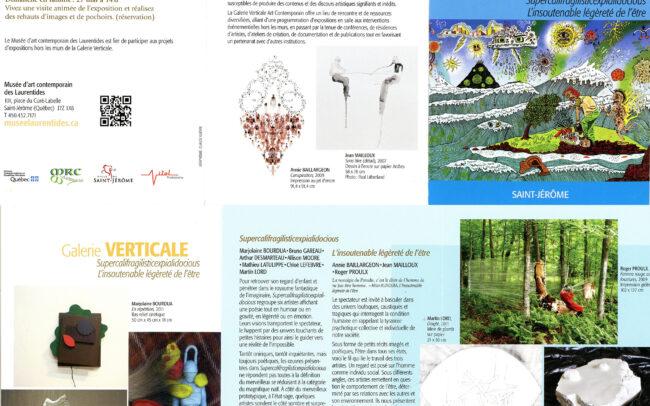 Opuscule pour l'exposition au Musée d'art contemporain des Laurentides (2012)
