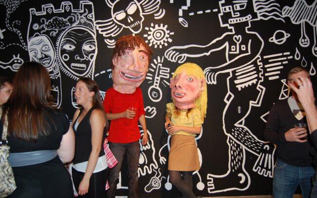 Allison Moore et Arthur Desmarteaux à la galerie AKA, Saskatoon